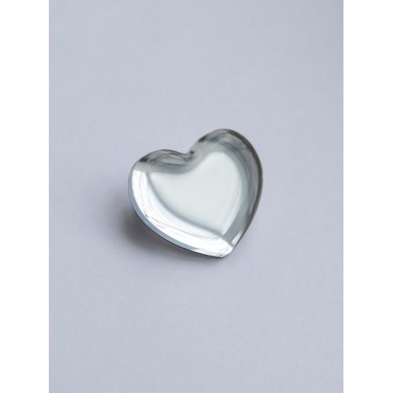 Брошь зеркальное сердце