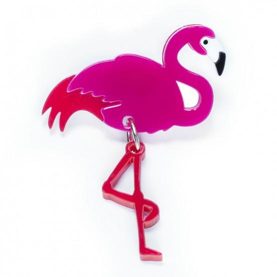 Брошь Фламинго