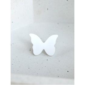Брошь Бабочка малая (белая)