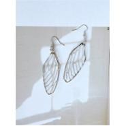 Серьги Крылья зеркальные