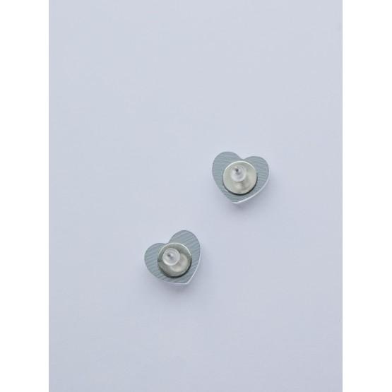 Серьги-гвоздики сердечки
