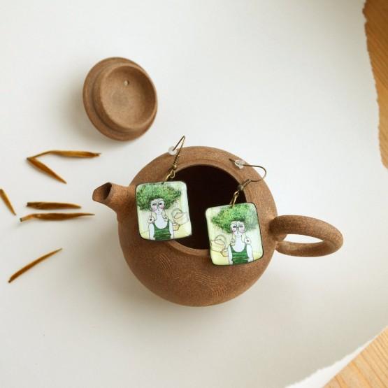 Серьги С чайником наедине