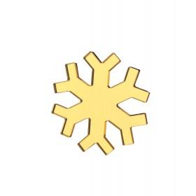 Брошь снежинка золото