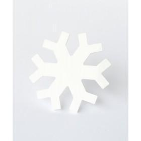 Брошь снежинка белая