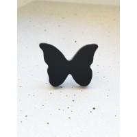 Брошь Бабочка малая (черная)