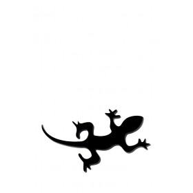 Брошь Черная ящерка