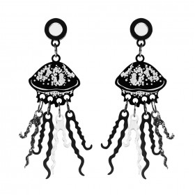 Серьги Graphic Jellyfish BlackGl